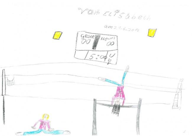 Die Turnstunde. Von Elisabeth, 8 Jahre