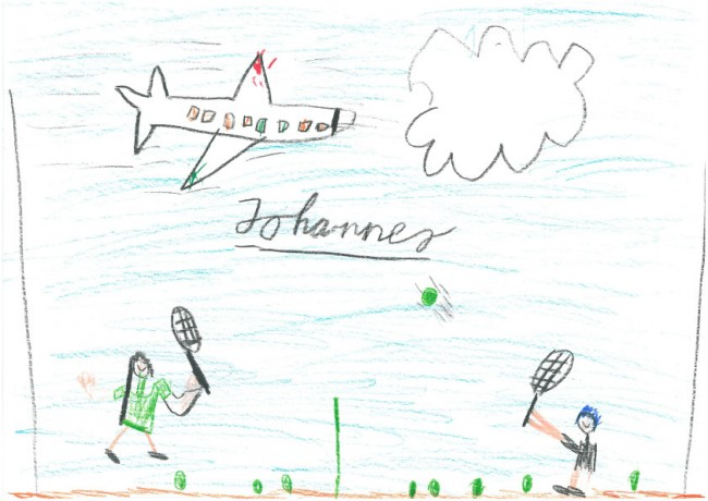 Tennis. Von Johannes, 8 Jahre