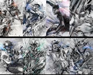 Die Arbeiten vo Alexis Marcou aus London für Black Swan Life finden sich zum Beispiel auf www.behance.net