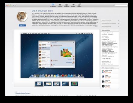 Mountain Lion im App Store