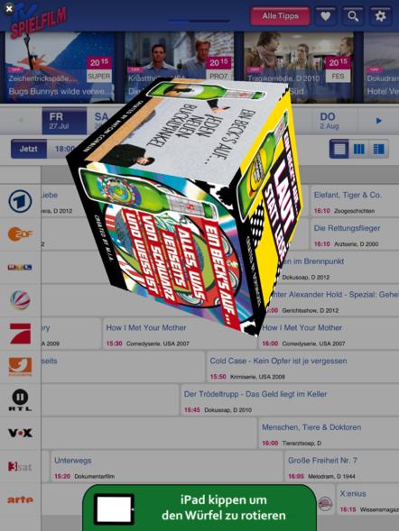 3D Cube auf dem iPad