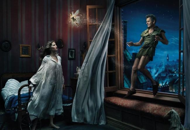 Gisele Bündchen und Mikhail Baryshnikov als Wendy und Peter Pan