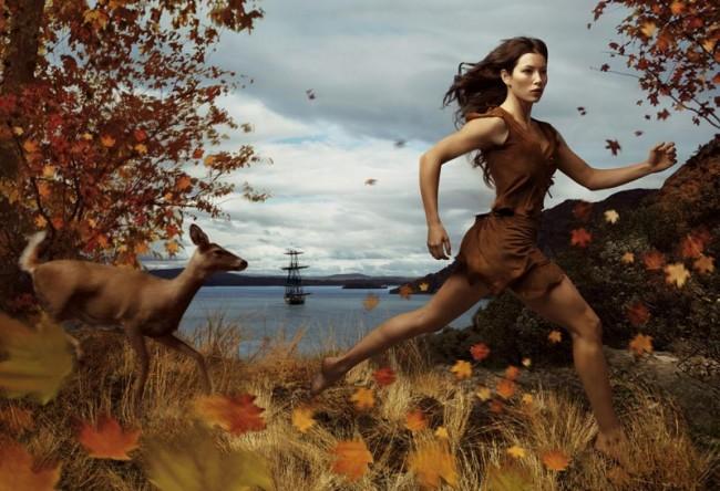 Jessica Biel als Pocahontas