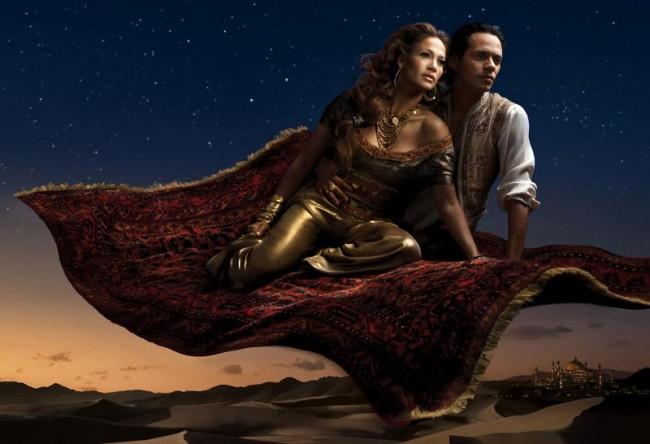 Jennifer Lopez und Marc Anthony als Jasmin und Aladdin