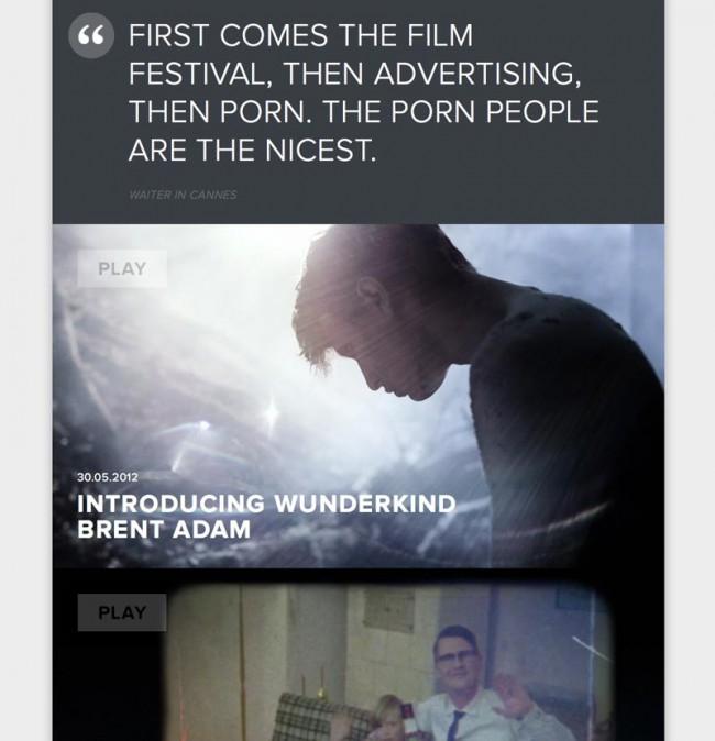 Detail-Screenshot der Webseite bei Tag
