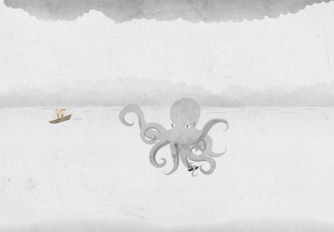 Screenshot der Webseite bei Nacht: Das Browser-Game