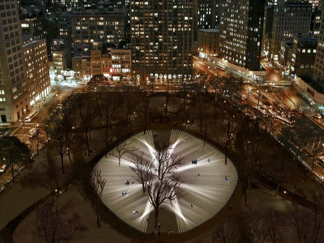 "Pulse Park, Relational Architecture 14"", 2008. Madison Square Park"