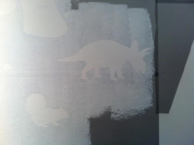Arbeit an den Wandgrafiken im Darwineum