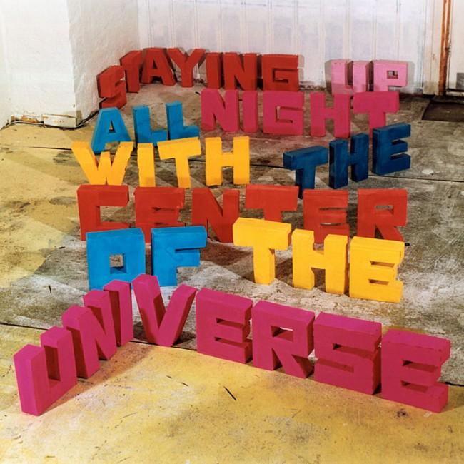 Gestaltung für die Platte »Staying up all night« von Center of the Universe