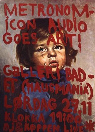 Postergestaltung für die Ausstellung »Metronomicon Audio goes art«