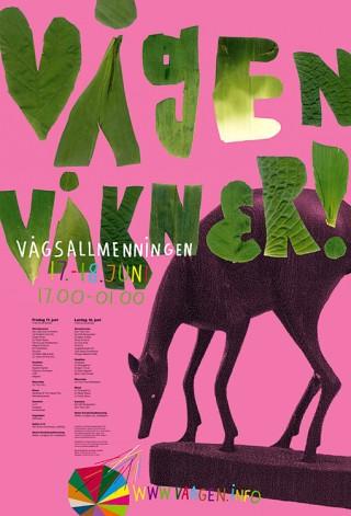 Plakat für das Kulturevent »Vagen Vakner«