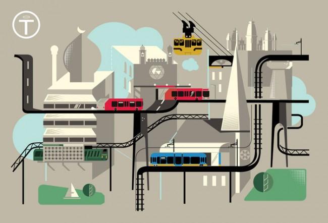 Ein Verkehrsnetzwerk zum umstiegsfreien Transport von Gläubigen zu ihren Gotteshäusern