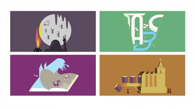 Elf Illustrationen zum Launch von Thalia Ebooks auf Facebook