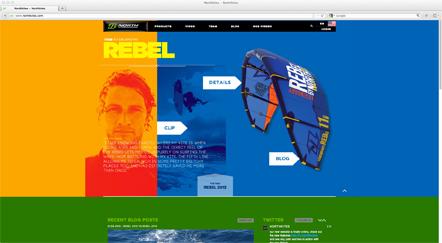Bild Northkites Webseite