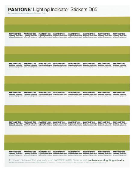 Bogen mit 40 Pantone Lighting Indicator Stickern