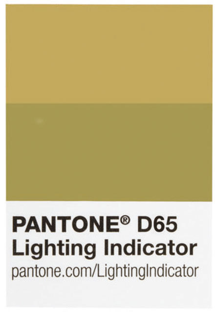 Pantone D65 Lighting Indicator