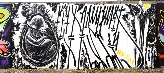 »Tired of War«: Wandbild von Felix und Matthias Gephart für den Yard 5 Summer Jam
