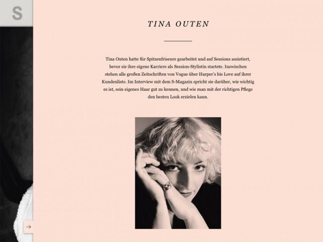 Rankin-Ausgabe des S-Magazine, Styling: Tina Outen