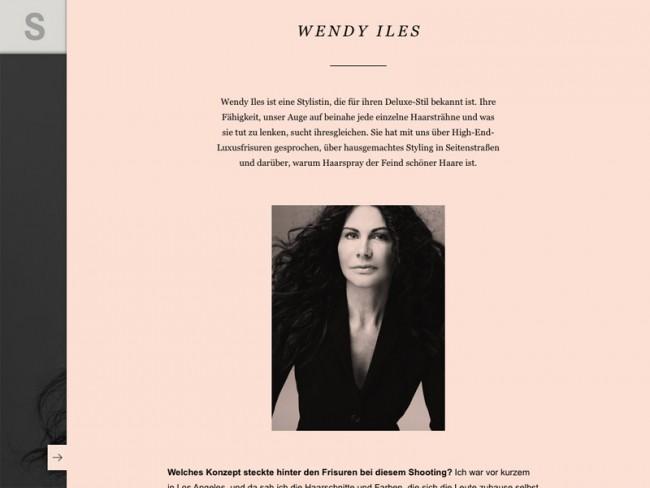 Rankin-Ausgabe des S-Magazine, Styling: Wendy Iles