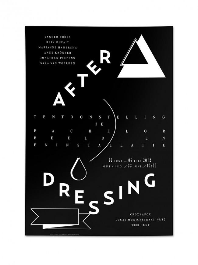 Plakat zur Ausstellung »After Dressing«