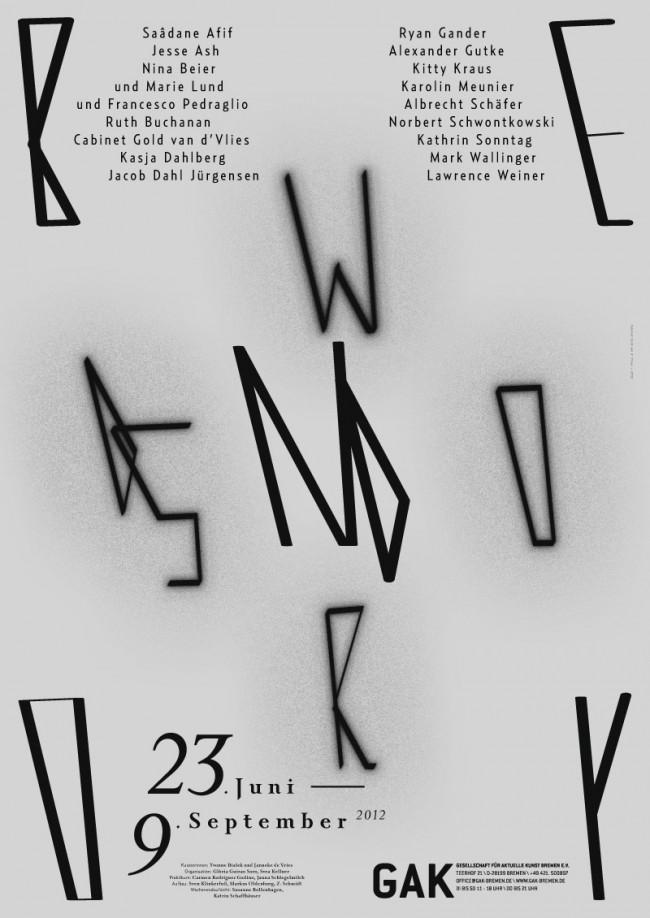 Plakat zur Ausstellung »Beyond Words« der Gesellschaft für aktuelle Kunst Bremen