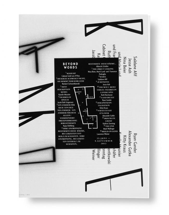 Katalog zur Ausstellung »Beyond Words« der Gesellschaft für aktuelle Kunst Bremen