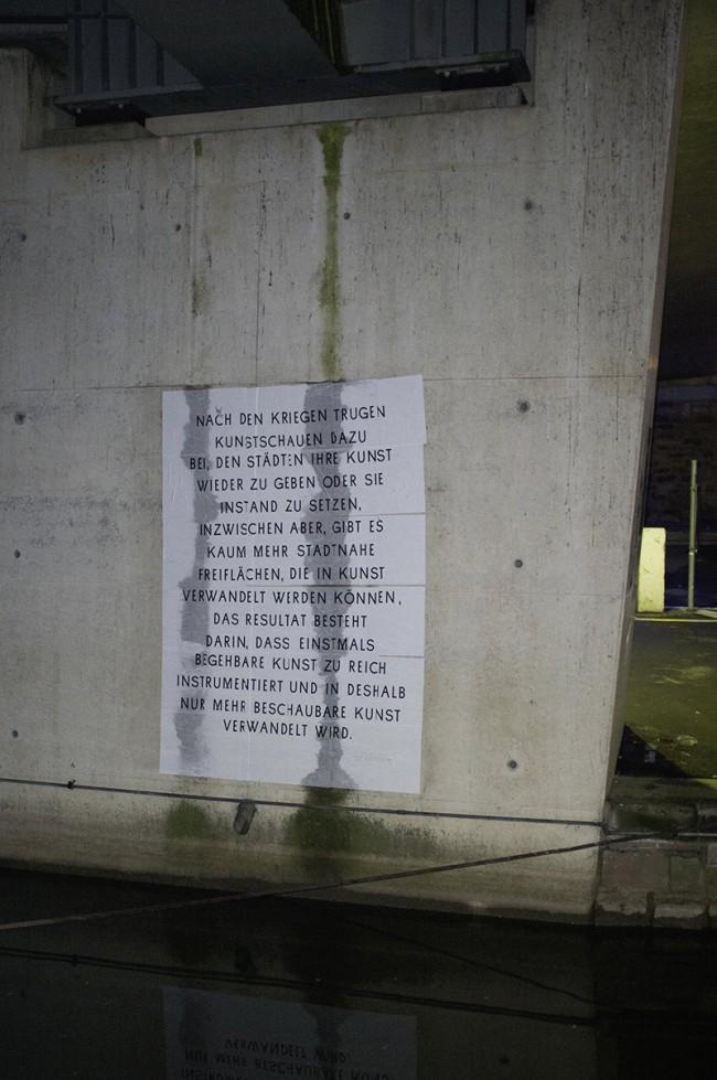 Fragment aus dem Projekt »Schau55«, welches im Rahmenprogramm der Documenta 13 initiierten Ausstellung »Fucking Fast« realisiert wurde
