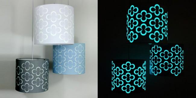 Curie Leuchtlampenschirm