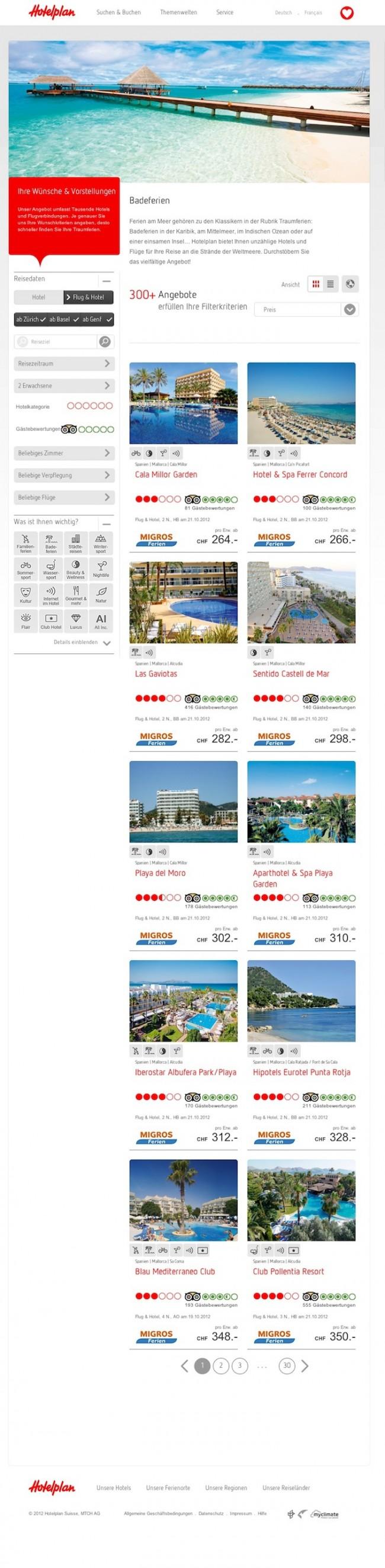 Hotelplan: Themenwelt Badeferien