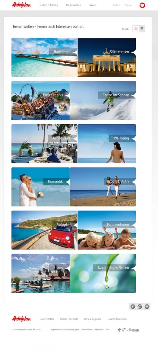 Hotelplan: Themenwelten