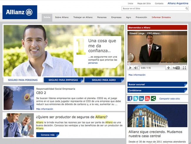 Allianz Argentinien: Corporate Website