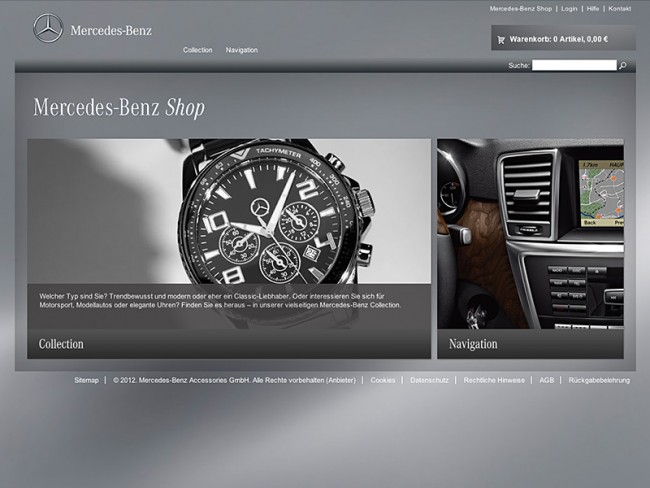 Mercedes-Benz Online-Shop