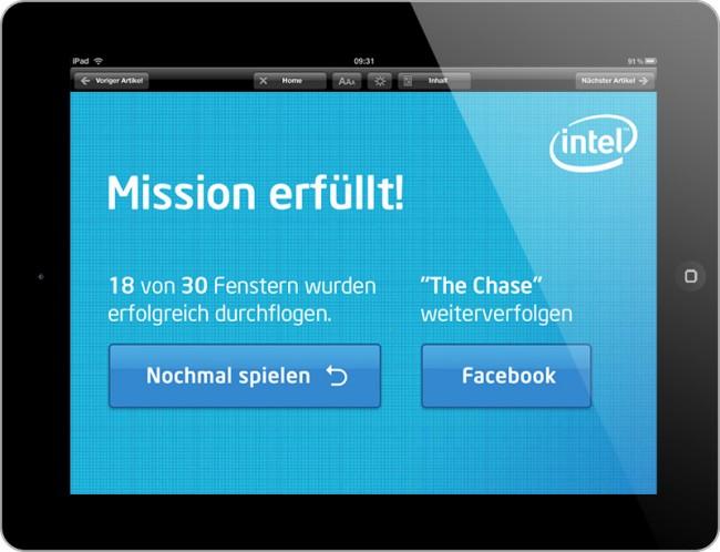Es ist viel mehr ein Spiel, das zunächst als Werbeanzeige in der Spiegel iPad Ad funktionieren sollte. Anschließend wurde es jedoch für weitere Redaktionssysteme, wie dem Stern und der Computer Bild Spiele angepasst.