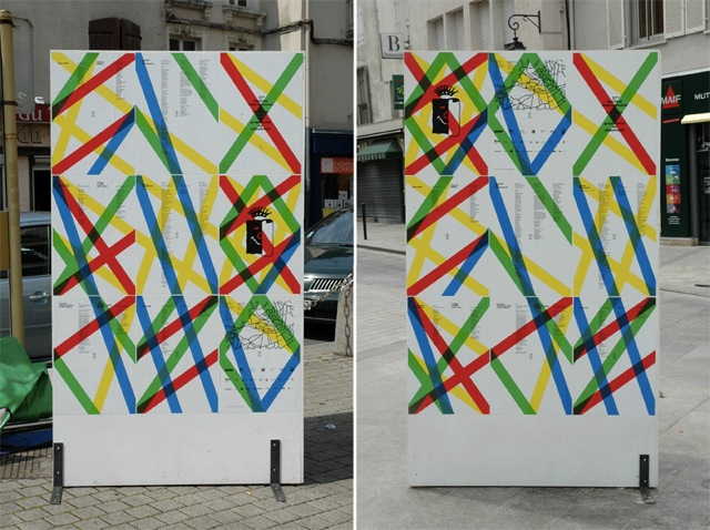 International Poster and Graphic Design Festival of Chaumont, 2010 — Town signage, posters and wood system furniture