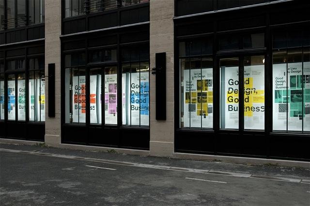 Good Design, Good Business, exhibition in Lieu Du Design, Paris, 2010 — Window Set of the exhibition