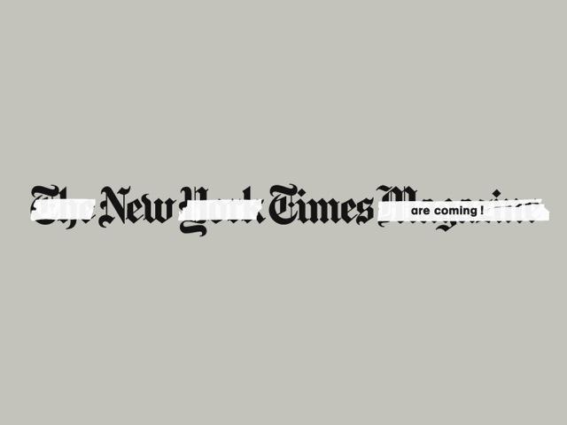 New York Times Magazine, Innovation Issue, NYC, 2012 — Variation around the original logo