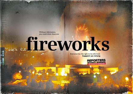 Bild Kampagne Reporter ohne Grenzen