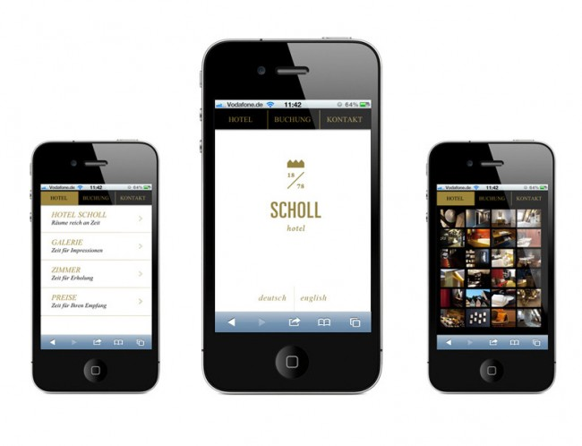 Hotel Scholl mobile Webseite