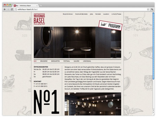Website, Brasserie