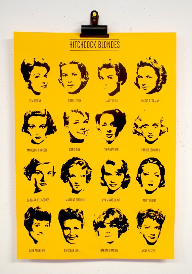 Hitchcock Blonde Poster