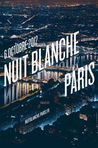 Nuit Blanche Paris, 2012 – poster