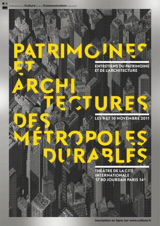 Patrimoines et architectures des métropoles durables, 2011 – poster