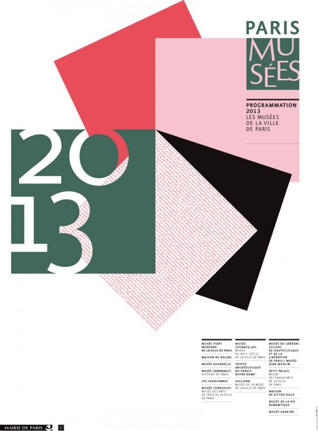 Paris Musées, 2012 – new logo, poster