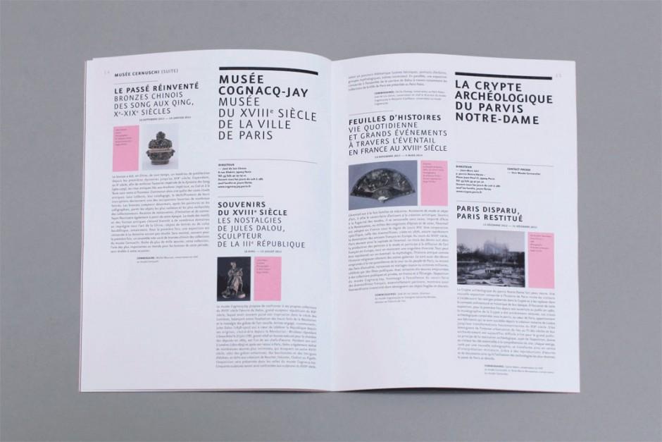 Paris Musées, 2012 – booklet
