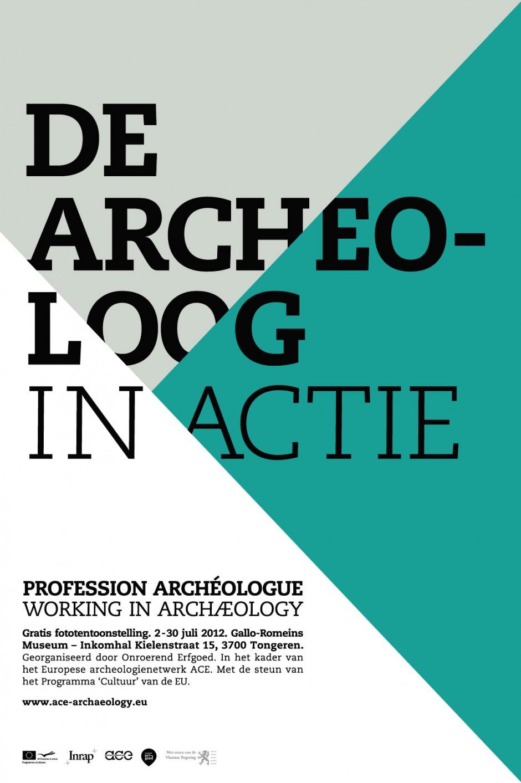 Archéologue – dutch exhibition poster