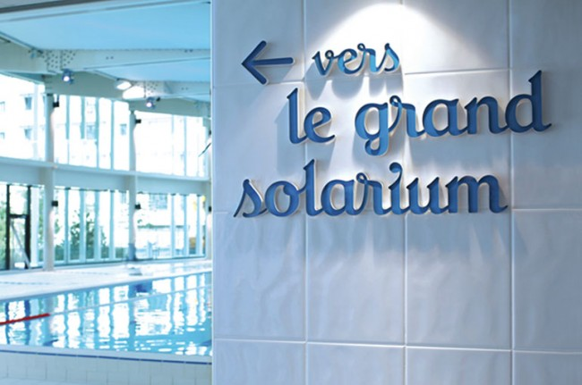 Swimming pool of Levallois – signage