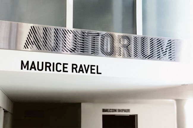 Music and dance conservatory Maurice Ravel – signage