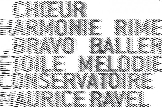 Music and dance conservatory Maurice Ravel – signage detail