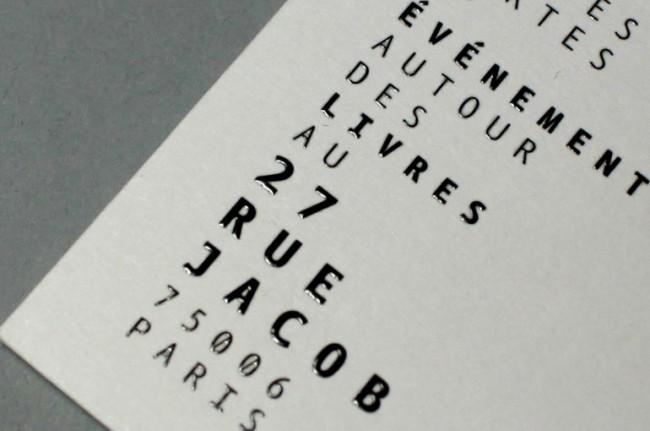 27 rue Jacob bookshop – identity detail