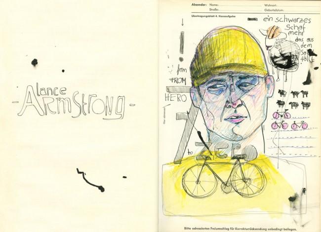 Draw me the news: Lance Armstrong werden alle Tour de France Siege aberkannt